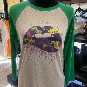 Mardi Gras lip shirt